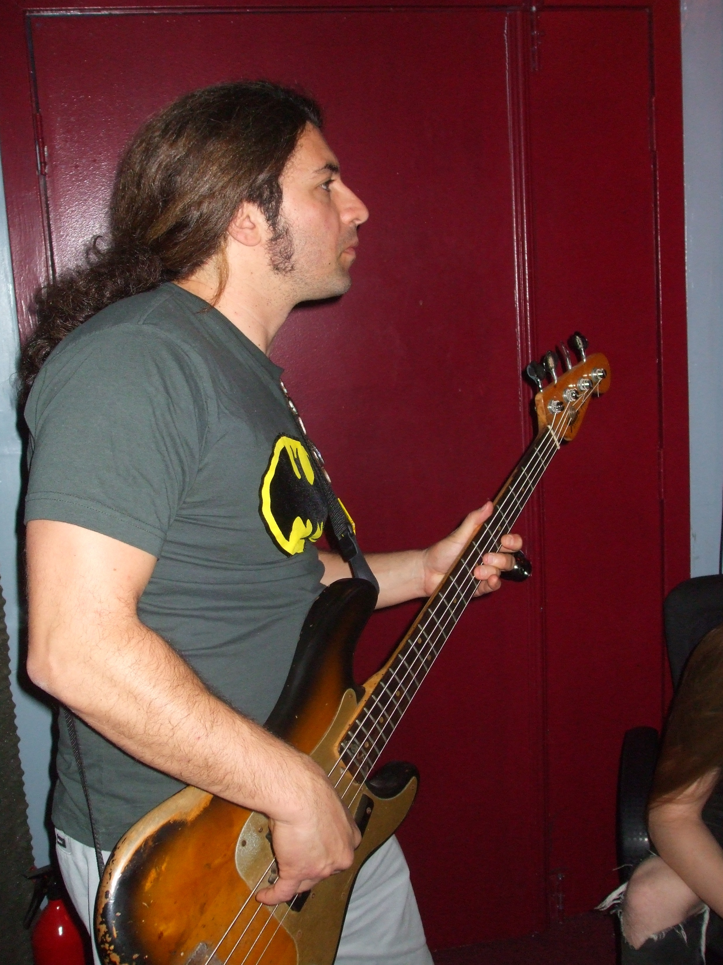 Troy Spiropoulos (Vol.2-The Scattering sessions)  Bass tracking (May 2008)  photo by  Burt Malcuit