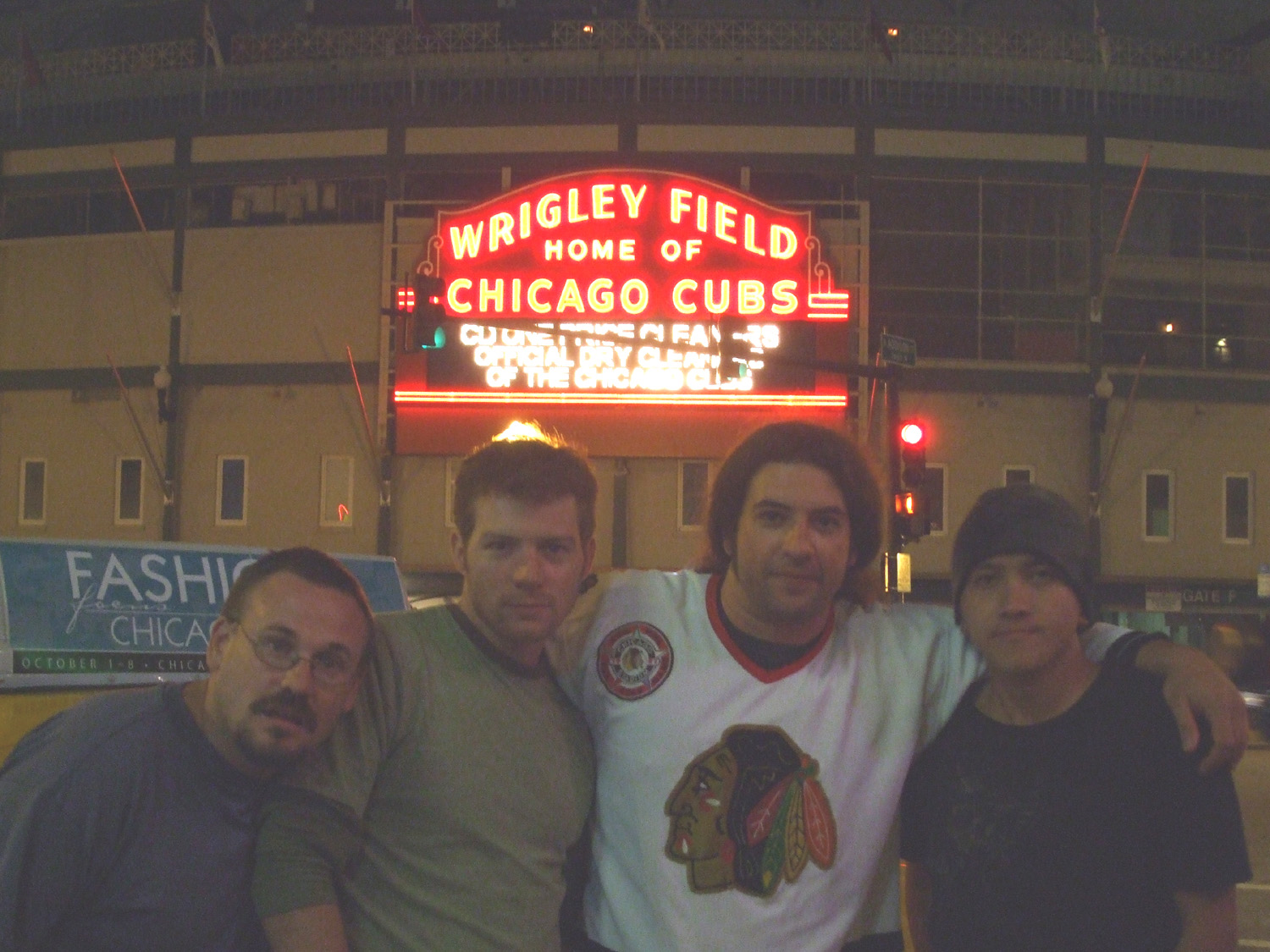 in front of Wrigley Field (Chicago, Il, 9-6-08)  photo by Matt Mellier