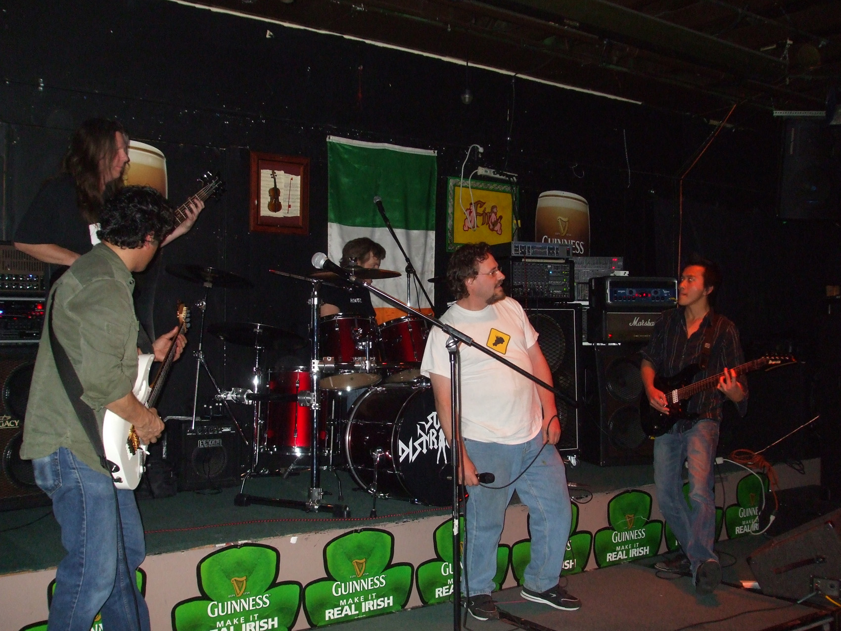 """(April 2014)  Members of Soul Distraction and Slow Burning Car jamming """"Rock N Roll"""" by Led Zeppelin at the Irishtown Bar N Grill in Vancouver, WA"""