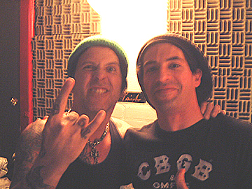 Troy Spiropoulos and Tracii Guns of LA Guns at Nightingale Studios (N. Hollywood, CA, 4-28-06) during the Blowback sessions