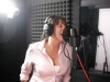 "Gina Spiropoulos tracking vocals for ""Day Brightener"" from the Assumption sessions  (7-15-12)  photo by Troy Spiropoulos"