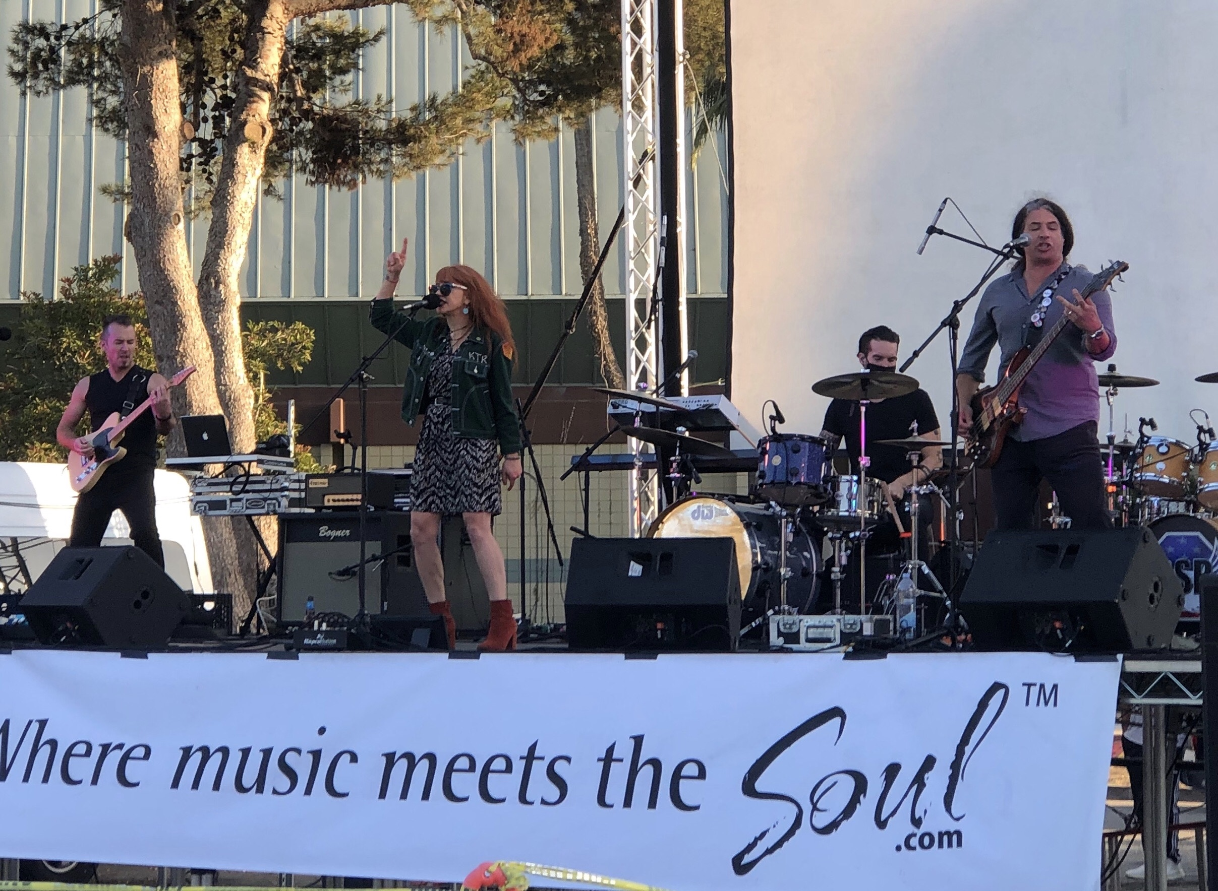 """Concerts In Cars"" series by The Canyon at The Oxnard Performing Arts Center, Oxnard, CA ( 9-26-2020) photo by Gina Spiropoulos"