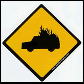 Slow Burning Car Sticker